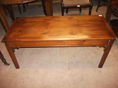 177 - Reproduction yew wood coffee table