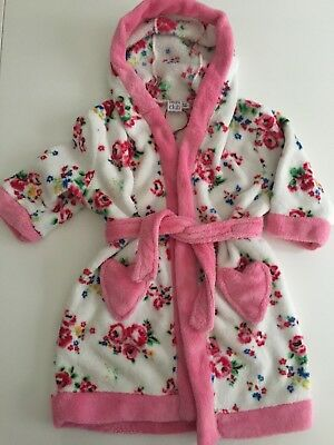 Baby girls dressing gown, age 9-12 months