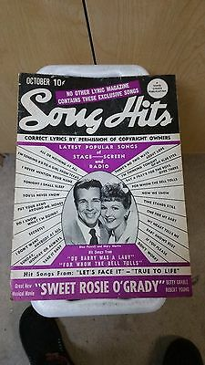1943 Song Hits Music Book MUST SEE Look!