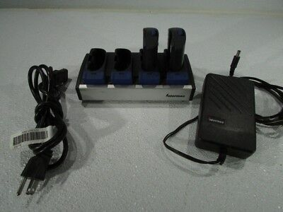 INTERMEC AC1 BATTERY CHARGER WITH 2 BATTERIES 852-904-002 With Power Adapter