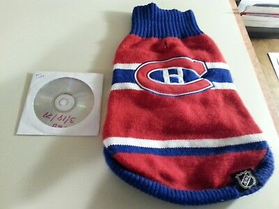 Montreal Canadiens dog sweater/jers+ bonus Grateful Dead Jerry Garcia Band 3/78