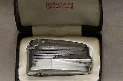 RONSON PREMIER VARAFLAME boxed with papers and pouch fully serviced  collector