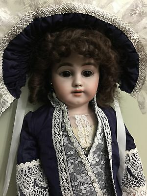 Antique Doll Simon & Halbig Bisque On A Kid Body 27""