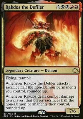 Rakdos the Defiler ~ Dissension ~ NearMint/Excellent+ ~ Magic The Gathering