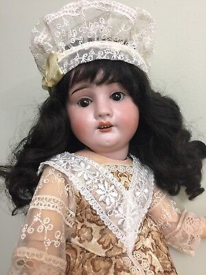 Antique Bisque Doll By RA Rechnagel On A composition Body 18""