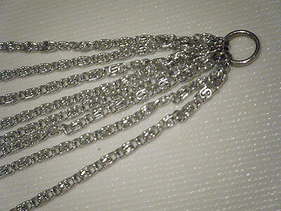 """Sarah Coventry Vintage - Silver Multi-Strand Chain Necklace - 15.5"""" length"""