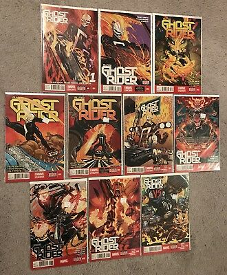 All New Ghost Rider 1-10 Marvel Comics first Robbie Reyes 2 3 4 5 6 7 8 9 VF/NM
