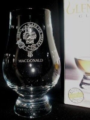 Clan Macdonald Scotch Malt Whisky Glencairn Tasting Glass