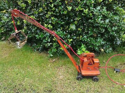 Vintage Toy Metal Crane- Up-Cycled to Unusual Desk/ Table Lamp-Office/Boys Room