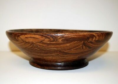 "Vintage Wooden Fruit Bowl 10""  Diameter"