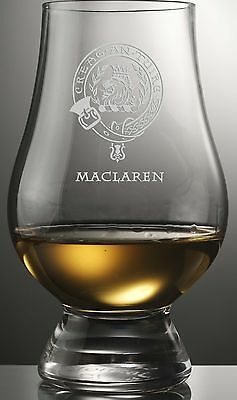 Clan Maclaren Scotch Malt Whisky Glencairn Tasting Glass