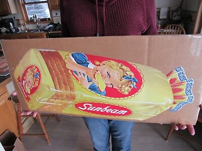 VINTAGE ORIGINAL 1950's DIECUT SUNBEAM BREAD ADVERTISING SIGN NEW OLD STOCK MINT