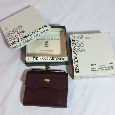 New in Box Vintage Princess Gardner French Purse Wallet Buffalo Leather