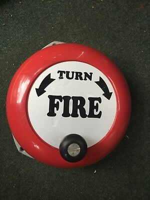 NEW! Emergency Rotary Hand Fire Safety Bell Manual Alarm