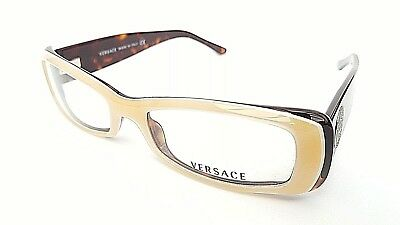 12c33f333cf Versace Designer Frames In Dark Brown Havana 3080 586 + Case - New   Under £
