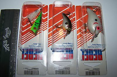 REBEL FISHING LURES LOT OF 3, WEE R, POP R, SUPER TEENY WEE  Trout, Bass, Bream