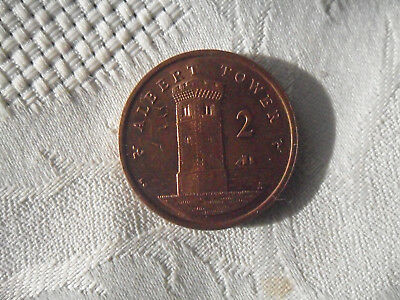 Isle of Man 2p 2 pence coin - Albert Tower on reverse - 2006
