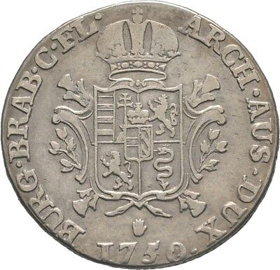 LANZ RDR Österreich Maria Theresia 1/4 Ducaton 1750 Antwerpen Wappen €HED247