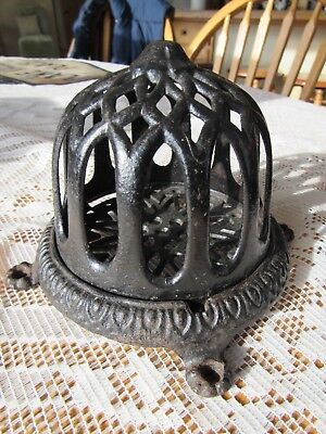 ANTIQUE 1900's UNIQUE CAST IRON STRING HOLDER BUTCHER, BAKER, GENERAL STORE