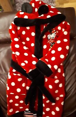 Minnie Mouse Fleece Dressing Gown, Age 4-5 Years
