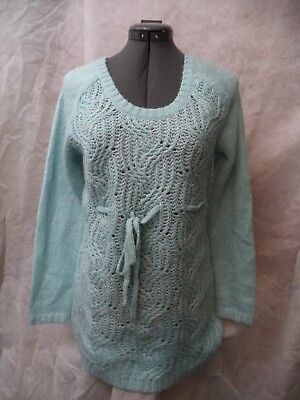 Oh Baby By Motherhood Long Sleeve Pullover Sweater Size Small Blue