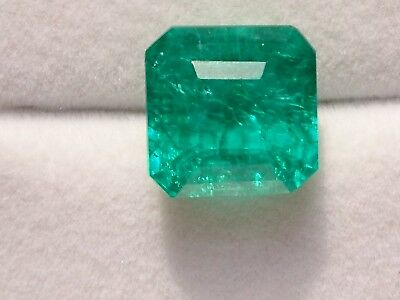 Stunning Octagon Shape Emerald 9.72 Ct Certified Colombian Gemstone