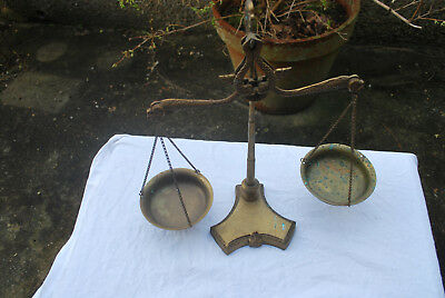 Vintage Brass balance weighing scales