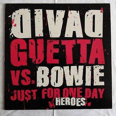 """David Guetta vs. David Bowie - Just For One Day (Heroes), 2003, 12"""" Vinyl"""