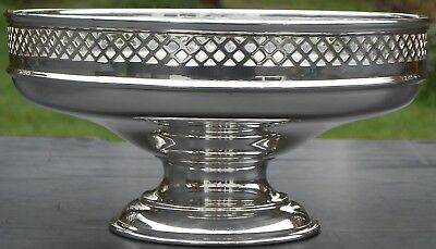 Good Vintage Tall Galleried Fruit Bowl - Silver Plated - Sheffield