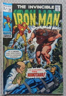 The Invincible Iron Man #24, An Early Bronze Age From 1970.