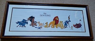Lion King Walt Disney Picture Sericel The Cast of Characters - Limited Edition