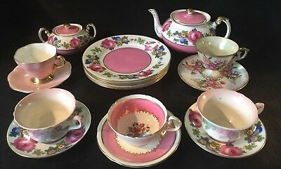 Vtg Mostly Paragon Tea/Coffee and Dessert Set for 5 w/  Foley  Aynsley pieces