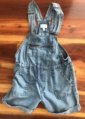 Witchery Girls Size 5 Denim Overall Shorts Worn Once As New