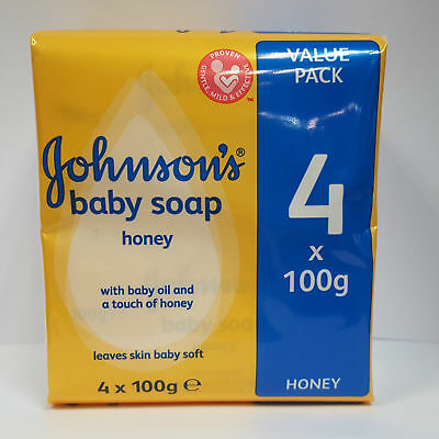 6 Pack x 4 Bars - Johnson's Baby Soap Honey - 100g
