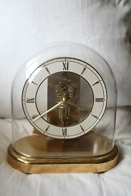 Junghans  Ato  Skeleton Clock Under Glass Dome