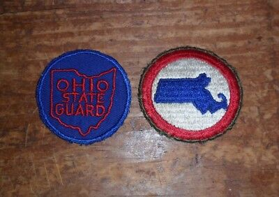 2 WWII State Guard Patches ( Massachusetts & Ohio S.G.)