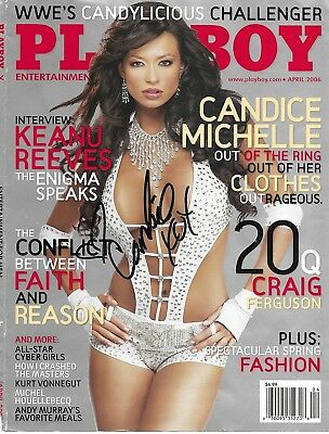 Celeb---Candice Michelle---Signed Playboy Cover