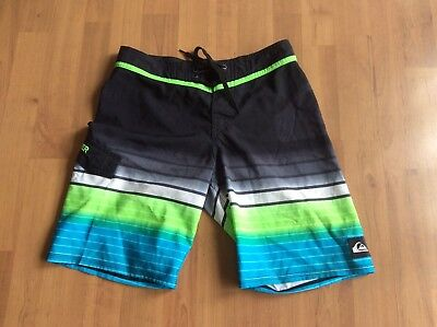 boys QUIKSILVER BOARD SHORTS SIZE 12- AUTHENTIC - VERY GOOD CONDITION