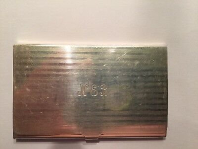 VINTAGE EXQUISITE TIFFANY & CO STERLING BUSINESS CARD CASE MONO 54g  AUTHENTIC