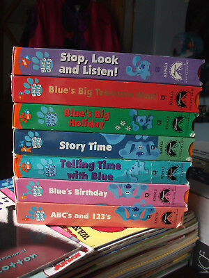 lot nickelodeon jr blues clues vhs tapes abc 123 movies story