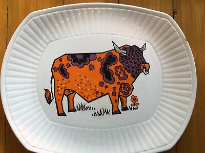 """Beefeater"" Steak & Grill Set English Ironstone Pottery. Bull plate. Free P&P"
