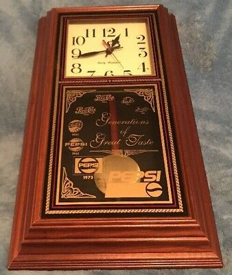 Vintage 1973 Hanover Pepsi Generations Of Great Taste Wall Clock - Works