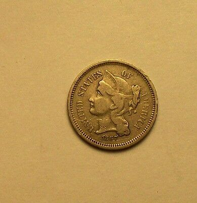 +++   1867 Nickel  Three Cent Piece   Great Type Set Coin   +++