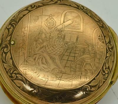 WOW! One of a kind ASTRONOMICAL VERGE FUSEE CALENDAR watch by W.Edwards c1790's