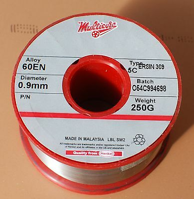 SOLDER wire Multicore 250g 0.9mm or 0.7mm