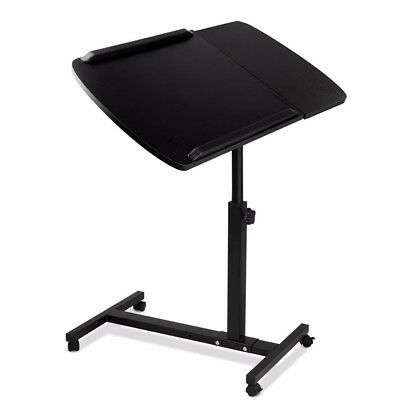 Mobile Laptop Desk Adjustable Notebook Computer iPad PC Stand Table Tray Bed #AB