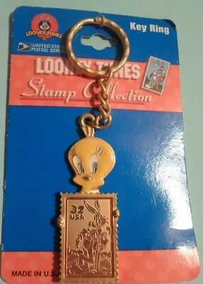 1997-USPS-Bugs-Bunny-32-USA-Looney-Tunes-Stamp-Collection-Tweety-Bird-Key-Ring