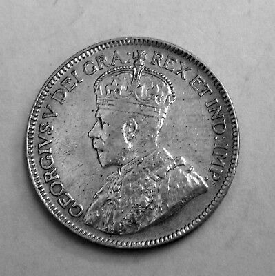 1919 Canada 25 Cents Silver Coin