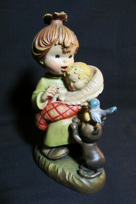 Vintage Anri Ferrandiz, 6 inch Mother & Child Wood Carving Figurine