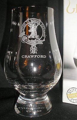 Clan Crawford Scotch Malt Whisky Glencairn Tasting Glass